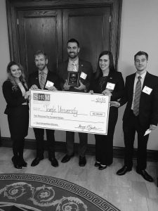 Members of Fox School's Society for Human Resource Management chapter celebrate their victory at the SHRM East Division Undergraduate Case Competition.