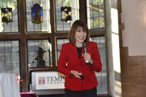Lu Ann Cahn, Director for Career Services at Temple University's School of Media and Communication, served as the keynote for the annual League for Entrepreneurial Women's Conference, where she encouraged attendees to be daring, no matter the setting. (Photography by Jim Roese)