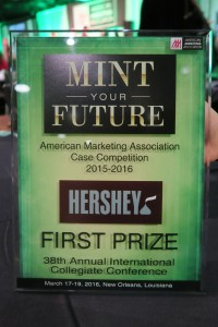 Photo of the American Marketing Association (AMA) Collegiate Case Competition award.