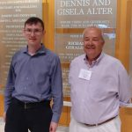 Dmitri Byzalov with Dr. Gregory Waymire standing in Alter Hall