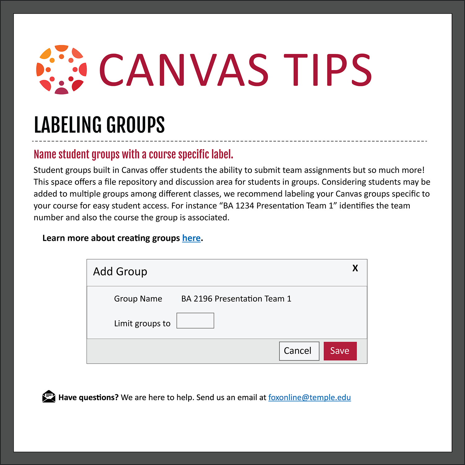 Tip 10: Labeling Groups