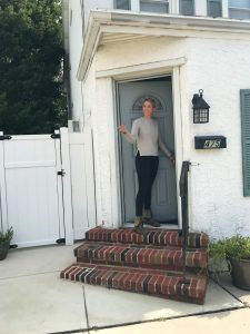Jen Singley unlocking one of her properties