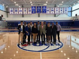 Students visiting 76ers headquarters