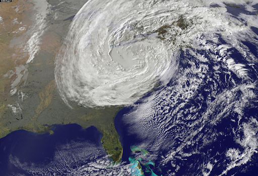Hurricane Sandy from above